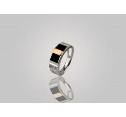 Печатка серебряная с золотом (593з)
