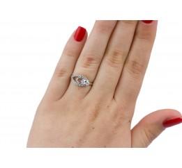 Кольцо серебряное с цирконием Алсу (1048/1р)