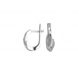 Серьги серебряные с цирконием Искренность (2395/9р)