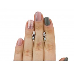 Серьги серебряные с цирконием Косичка малая (2591/9р)