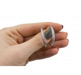 Серьги серебряные с цирконием Доминика (2040/9р)