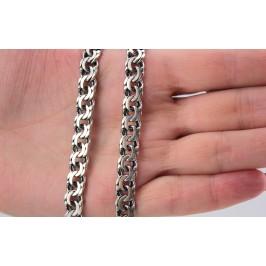 Цепочка серебряная крупная Плоский бисмарк (802тч)