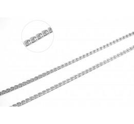 Цепочка серебряная Плоский бисмарк (802слб)