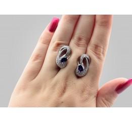 Серьги серебряные с цирконием Элли (2371/9р)