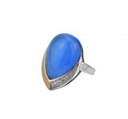 Кольцо серебряное с золотом и улекситом Княгиня (240к)