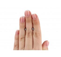 Серьги пусеты-гвоздики серебряные (0068.10)