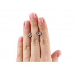 Серьги пусеты-гвоздики серебряные (0072.10)