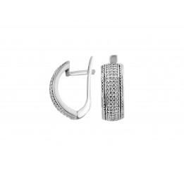 Серьги серебряные с цирконием Река широкая (2116/9р)