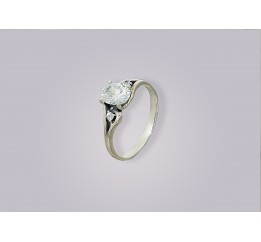 Кольцо серебряное с цирконием Теодора (2113381)