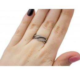 Кольцо серебряное с цирконием Звучание (1162/1рч)