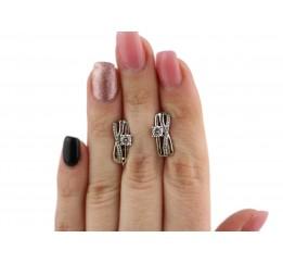Серьги серебряные с цирконием Амальери (2804/9р)