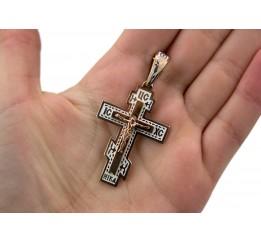 Крестик с эмалью (108п_белый)