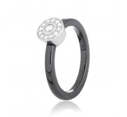 Кольцо серебряное с керамикой и фианитами (к2фк/1011)