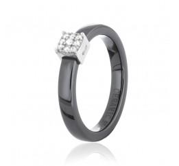 Кольцо серебряное с керамикой и фианитами (к2фк/1013)