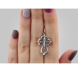 Крестик серебряный (35047ч)