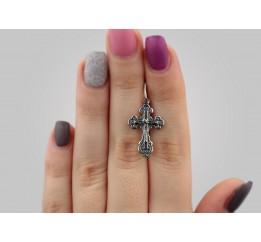 Крестик серебряный (35016ч)