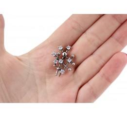 Брошь серебряная (60059)