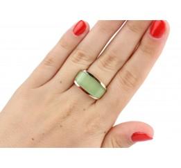 Кольцо серебряное с золотом и улекситом Элегантность (246кз)
