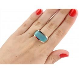 Кольцо серебряное с золотом и улекситом Элегантность (246кг)
