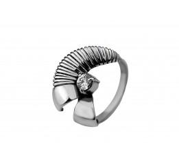 Кольцо серебряное с цирконием Гафре (2111230)