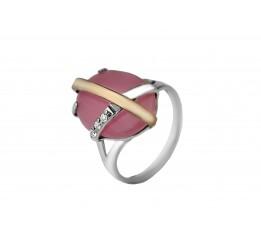 Кольцо серебряное с золотом Сенсация (499кр)