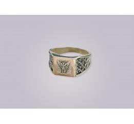 Печатка серебряная с золотом Архангел Михаил (0274.10)
