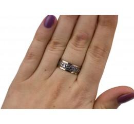 Кольцо серебряное с золотом Спаси та збережи (0340.10)
