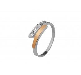 Кольцо серебряное с золотом (0186.10к)