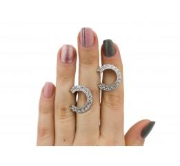 Серьги серебряные в камнях (7096.10с)