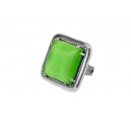 Кольцо серебряное с улекситом эксклюзивное (1329с)