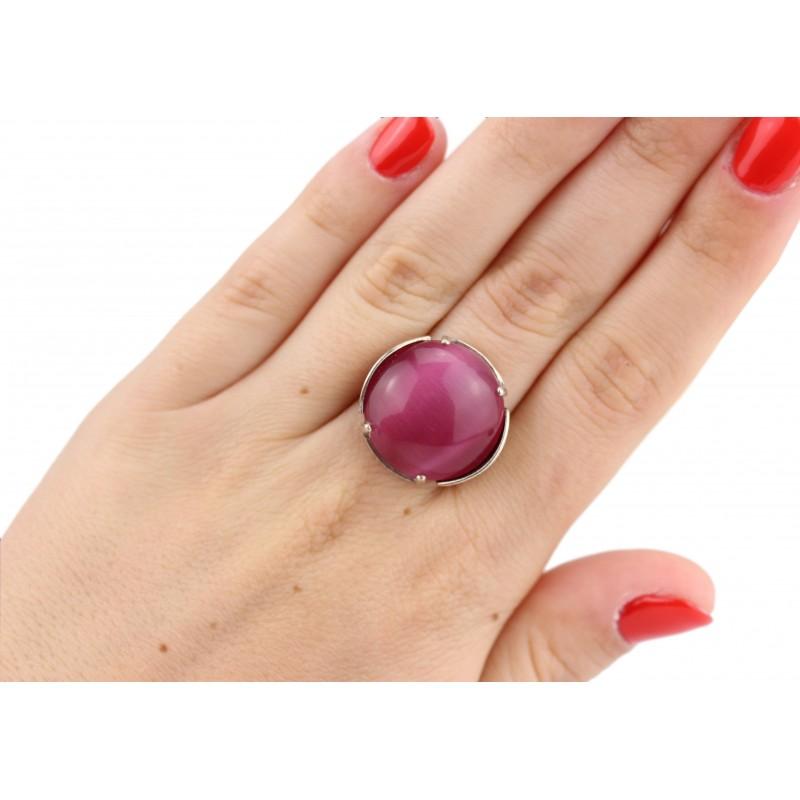 Кольцо серебряное с улекситом эксклюзивное (1287к)