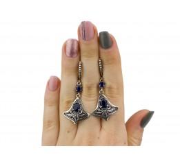 Серьги серебряные  с цирконием (2569с)