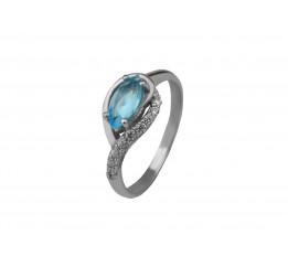 Кольцо серебряное с голубым кварцем Дорис (1968/9р QSWB)