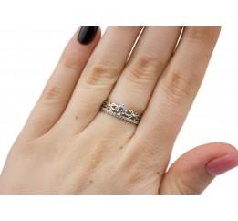 Кольцо серебряное с цирконием Кэтти (1210/1р)