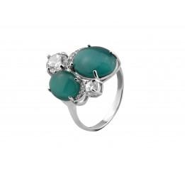 Кольцо серебряное с улекситом Эвита (1142кз)