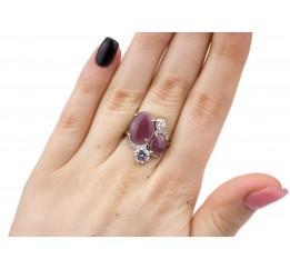 Кольцо серебряное с улекситом Эвита (1142кс)