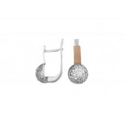 Серьги серебряные с золотом Любава (693с)