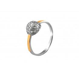 Кольцо серебряное с золотом Любава (693к)