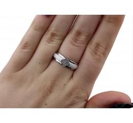 Кольцо серебряное с керамикой и цирконием (1.1211.2056.32б)