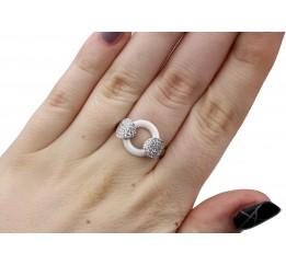 Кольцо серебряное с керамикой и цирконием (1.1211.2066.32б)