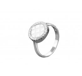 Кольцо серебряное с керамикой и цирконием (1.1211.332)