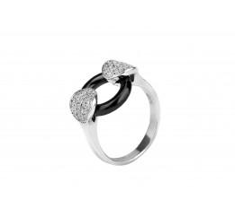 Кольцо серебряное с керамикой и цирконием (1.1211.2066.32ч)