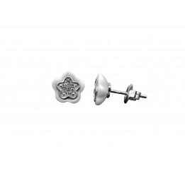 Серьги серебряные с керамикой и цирконием (2.1211.2050.32б)