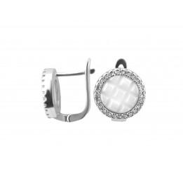 Серьги серебряные с керамикой и цирконием (2.1211.332б)