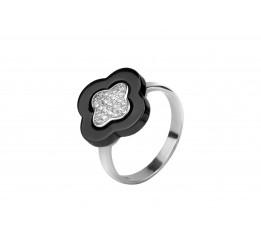 Кольцо серебряное с керамикой и цирконием (1.1211.2230.32)