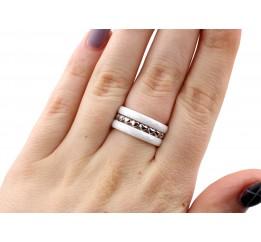 Кольцо серебряное с керамикой  Тулуза (кб032а)
