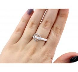 Кольцо серебряное с керамикой и фианитами Брайтон (кб027)