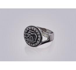 Печатка серебряная с цирконием Аллах-акбар (1005)