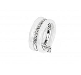 Кольцо серебряное с керамикой и фианитами Флоренция (кб005)