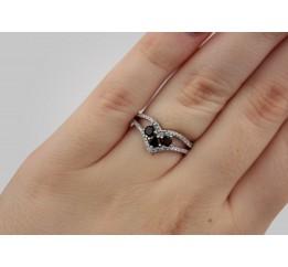 Кольцо серебряное с натуральным гранатом Утончённость (1364/1р гранат)